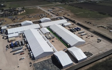 B-Roll of Temporary Processing Facility in Donna, Texas