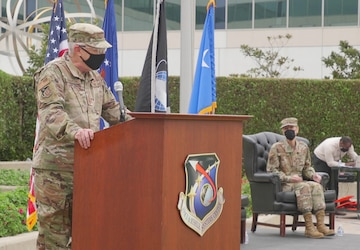 SMC Airmen turned Guardians in morning transfer ceremony