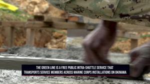 MCIPAC Seabees build bus stops on MCAS Futenma