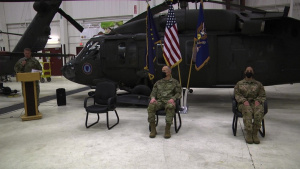 Casing Ceremony for 1st Battalion 168th Aviation, Alaska Army National Guard