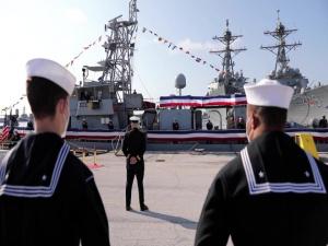 USS Shamal Decommissioning Ceremony