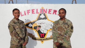 WGN America Pfc. Christy Hubbard and Spc. Mashara Lovelace