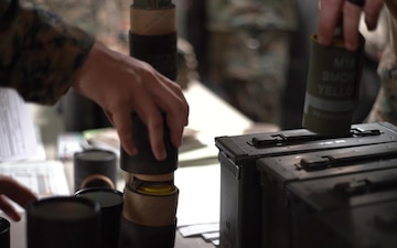 BLT 1/4 Marines, Sailors receive ammunition prior to departing USS Somerset