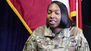 SGM Francis, of First Army, Gives an Interview for Womens' History Month