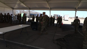 U.S. Army Soldiers conduct dry-run training at COVID-19 Community Vaccination Center