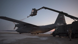 179th Airlift Wing C-130 aircrews depart for deployment (B-roll)