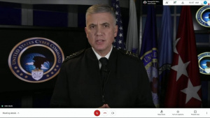 Commander, U.S. Cyber Command, gives keynote address for the 2021 USCYBERCOM LEGAL CONFERENCE.