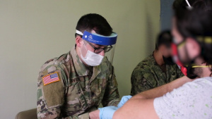 U.S. Army Soldiers support COVID-19 vaccination efforts in Jersey City, NJ