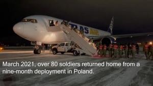 Alaska National Guardsmen return from nine-month deployment to Poland