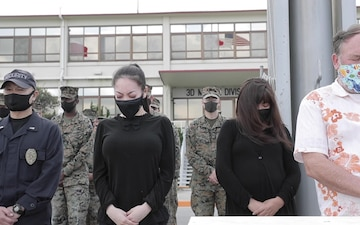 Moment of Silence - 3rd Marine Expeditionary Brigade honors Operation Tomodachi