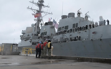 USS Winston S. Churchill (DDG 81) Return to Homeport after Deployment to U.S. 5th and 6th Fleet