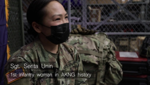 Sgt. Serita Unin makes history as Alaska Army National Guard's first infantrywoman