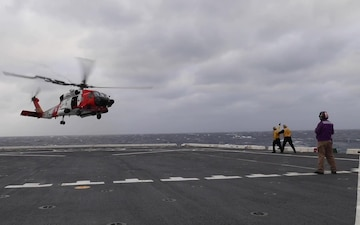 Coast Guard, Navy combine efforts to medevac ill mariner to Bermuda