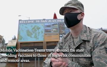 Washington National Guard COVID-19 response force capabilities showcase
