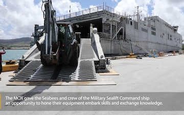 Guam Seabees conduct MOX with USNS Fall River