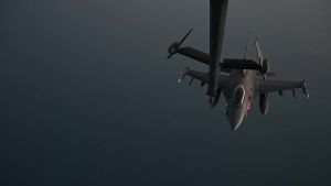 F-16C aerial refueling over Southwest Asia