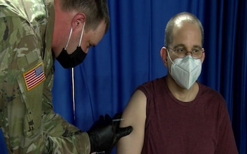 District of Columbia National Guard family members receive COVID-19 vaccine