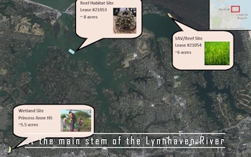 Lynnhaven ecosystem project reef habitat in full swing at river's stem