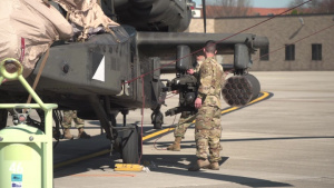 Army Helicopters Land at Wright-Patt