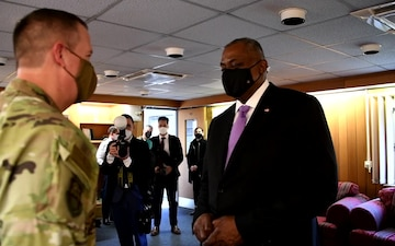 Secretary of Defense visits AFRICOM to share vision, recognize personnel