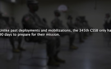 345th CSSB Soldiers depart for yearlong mobilization