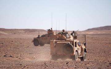CAAT 2 Marines conduct convoy operations in Tabuk, KSA