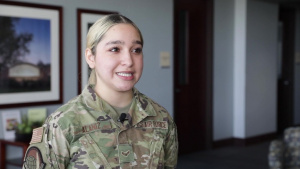 U.S. Air Force A1C Alaniz talks about her role for the upcoming CVC