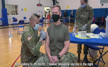 DLA Distribution Commanding General receives COVID-19 vaccine