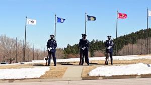 Maj. LaVerne Tech (Ret.) Funeral Honors