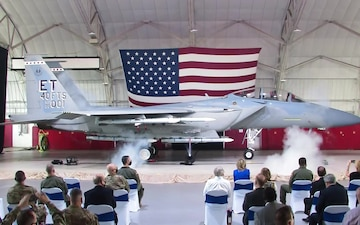 Naming and unveiling ceremony for the new F-15EX Eagle II