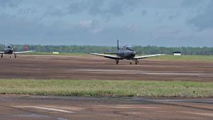 Two T-6A Texan IIs Taxi