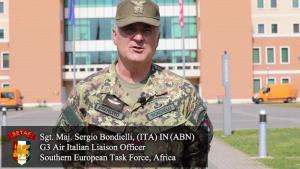 Why I Serve: Sgt. Maj. Sergio Bondielli (ITA)