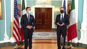 Secretary of State Blinken camera spray with Italian Foreign Minister Luigi Di Maio