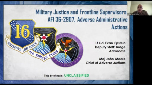 The 16th Air Force Military Justice Conference, Part 2