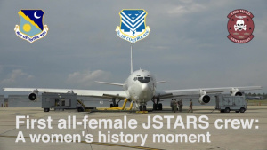 First all-female JSTARS flight crew honors women's history month with flight