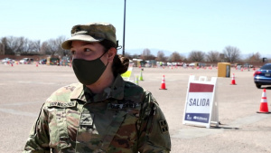 2nd Brigade, 4th Infantry Division, supports the Community Vaccination Site in Pueblo, Colorado