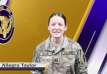 USAR Birthday shoutout - CPT Allegra Taylor