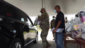 Andersen Airmen assist with Yona food distribution b-roll