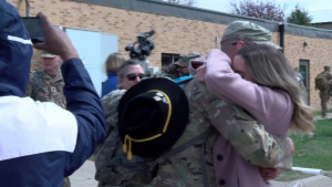 Le Mars Iowa Army Guard Soldiers return from deployment