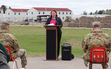 Fort McCoy DPW director discusses new barracks project during ground-breaking ceremony