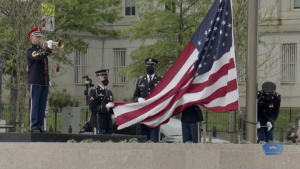 U.S. Flag Raised Over New WWI Memorial in Inaugural Ceremony