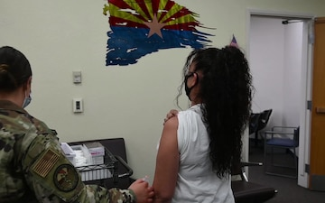 AZNG administers COVID-19 vaccines to military dependents