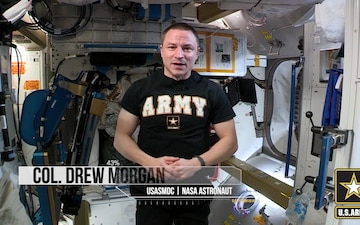 Army Astronaut, Col Drew Morgan takes the  ACFT in Space