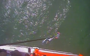 Coast Guard rescues 1 from the water near Key Largo
