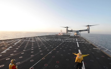 MV-22B Osprey Flight Operations Aboard USNS Mercy