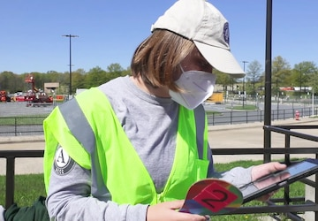 Volunteers serve at the Greenbelt Metro CVC