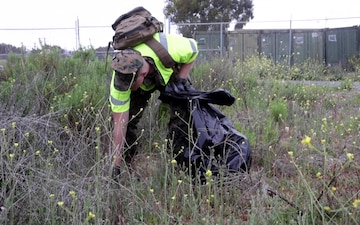B-Roll: Pendleton Marines, sailors clean 21 Area for Earth Day