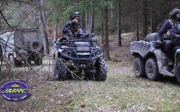 Latvian Soldiers participate in OPFOR mission during Dragoon Ready 21