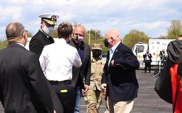 Brig. Gen. Janeen Birckhead visits Navy-Marine Corps Memorial Stadium Mass Vaccination Site [B-Roll]