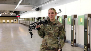 Olympian Spc. Alison Weisz - See You at the Olympics Shout Out (with Air Rifle)
